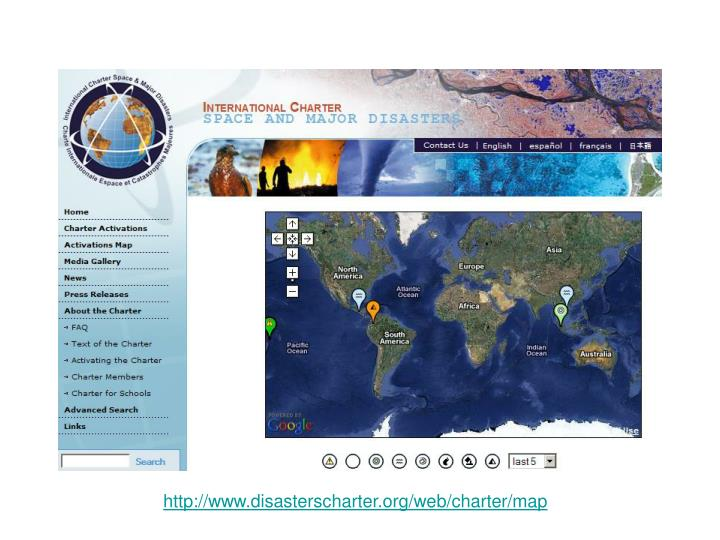 http://www.disasterscharter.org/web/charter/map