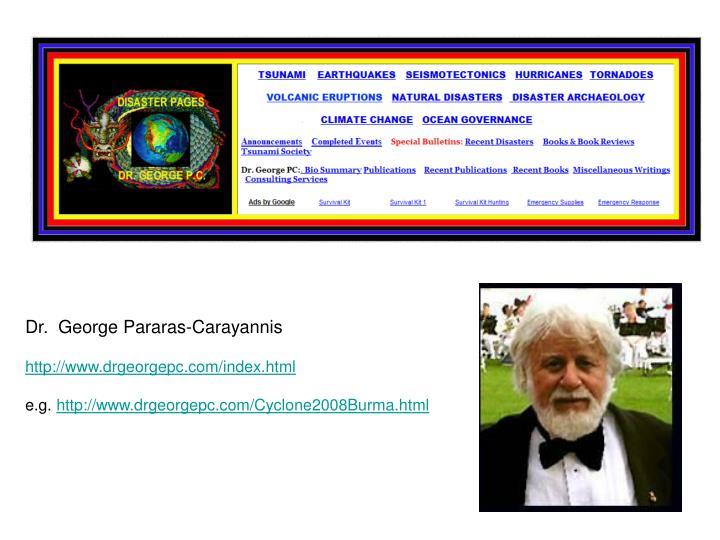 Dr.  George Pararas-Carayannis