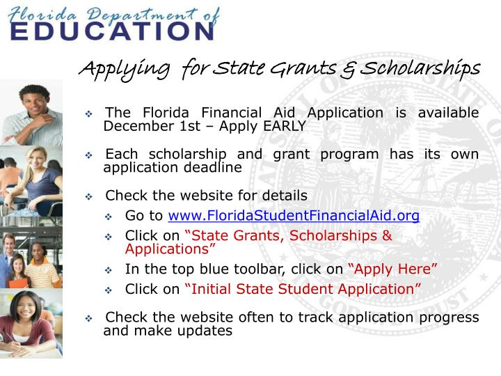 Applying  for State Grants & Scholarships