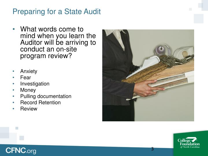 Preparing for a state audit1