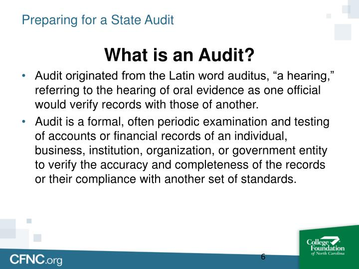 Preparing for a State Audit