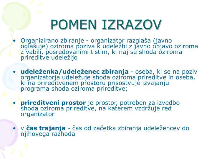 POMEN IZRAZOV