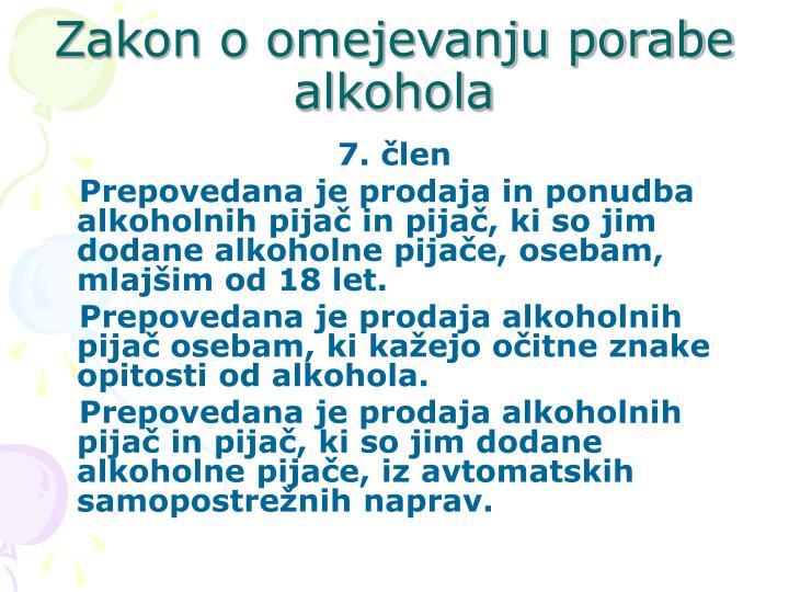 Zakon o omejevanju porabe alkohola
