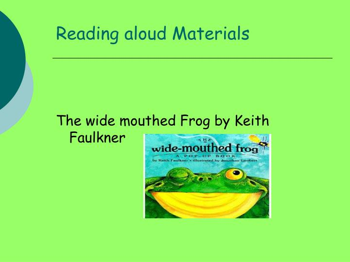 Reading aloud Materials