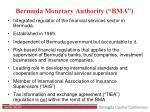 bermuda monetary authority bma