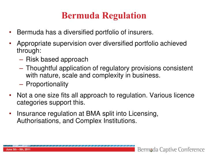 Bermuda Regulation