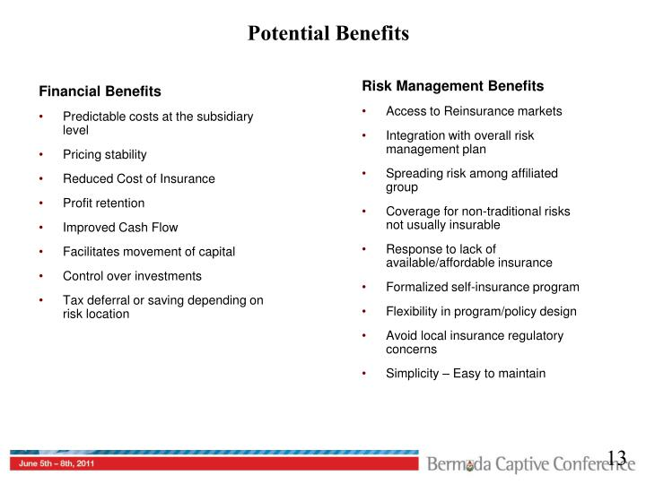 Potential Benefits