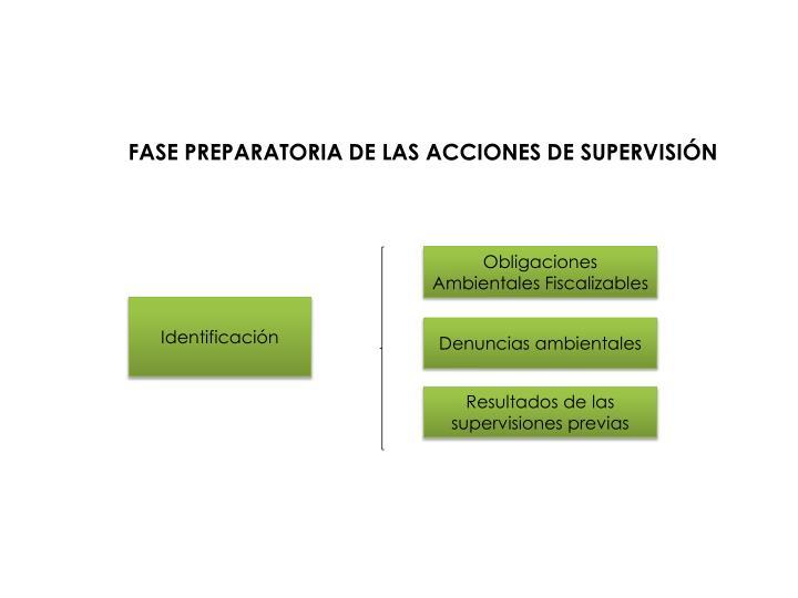 FASE PREPARATORIA DE LAS ACCIONES DE SUPERVISIÓN