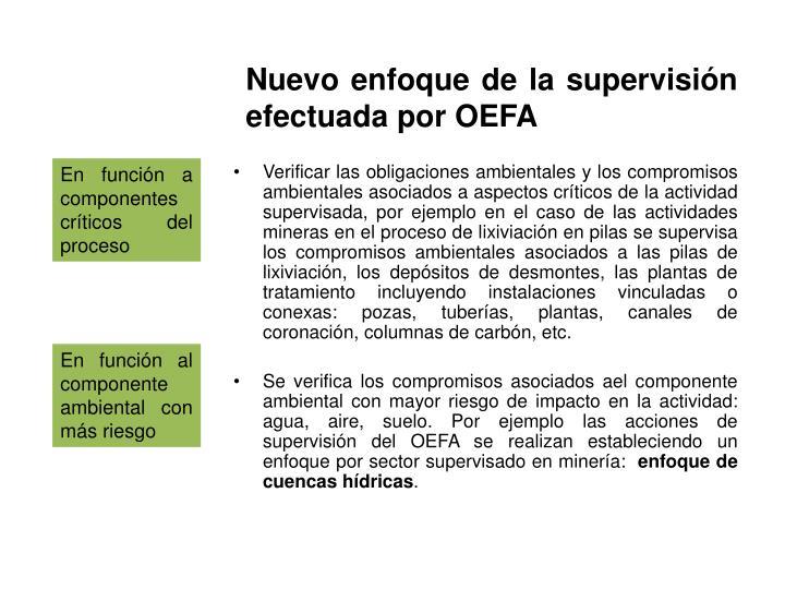 Nuevo enfoque de la supervisión efectuada por OEFA