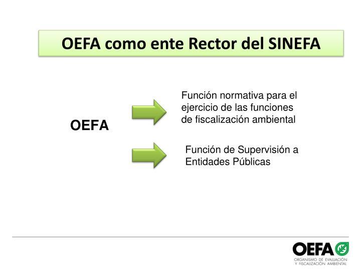 OEFA como ente Rector del SINEFA