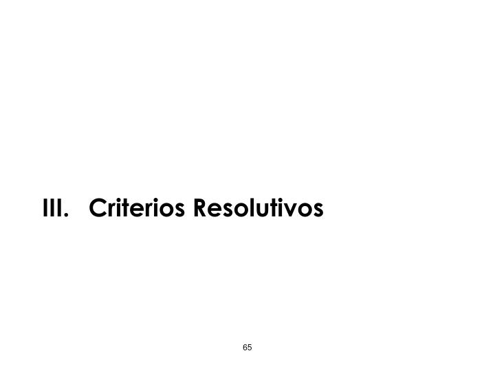 Criterios Resolutivos