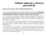 verificar vigencia y alcance de la eps rs