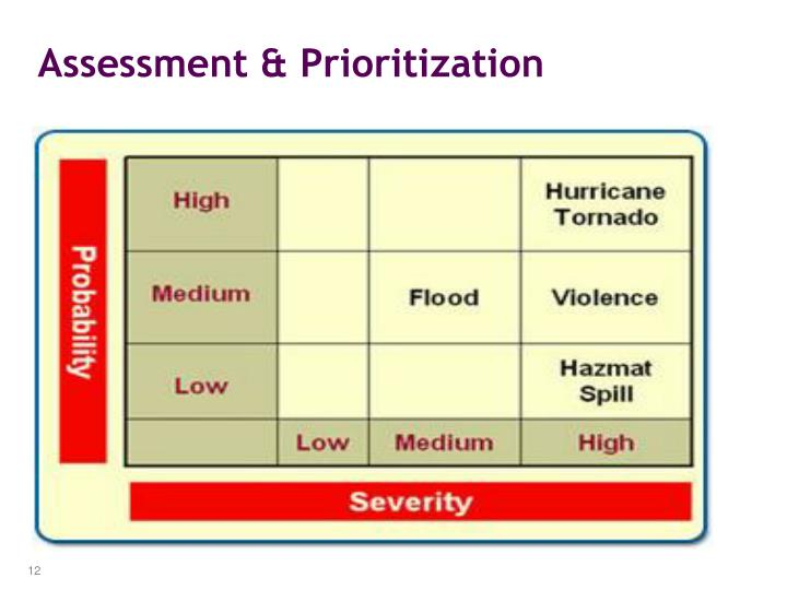 Assessment & Prioritization