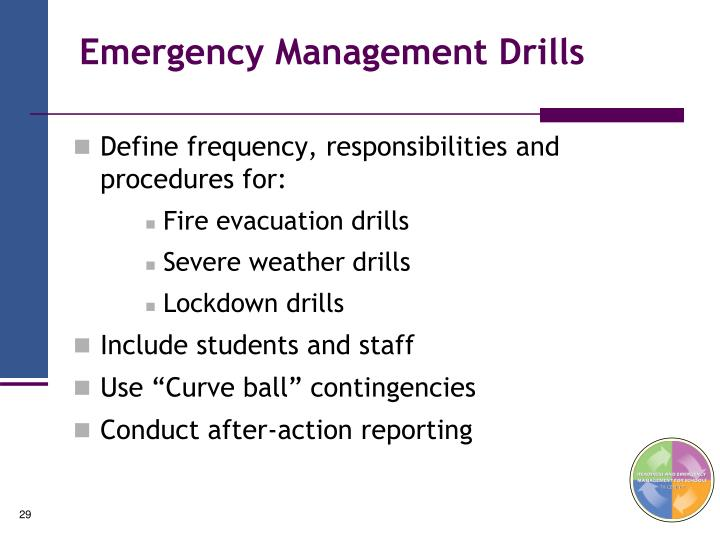 Emergency Management Drills