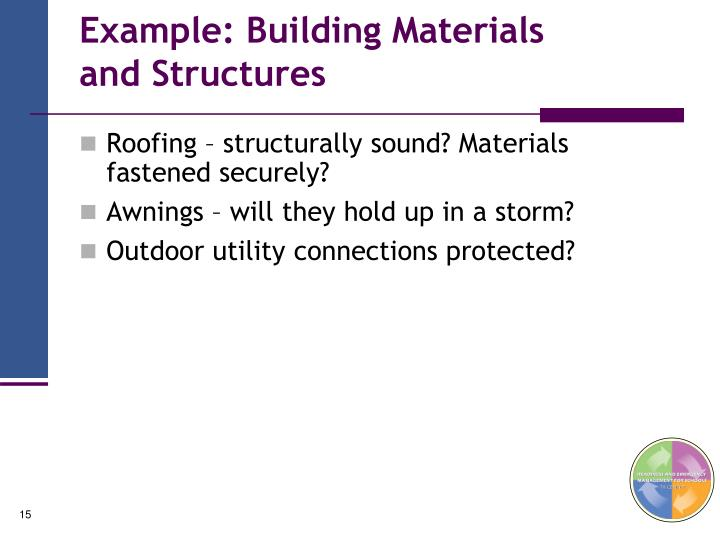 Example: Building Materials