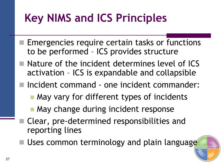 Key NIMS and ICS Principles