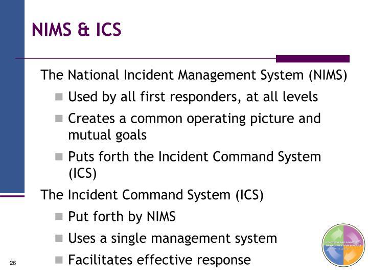 NIMS & ICS
