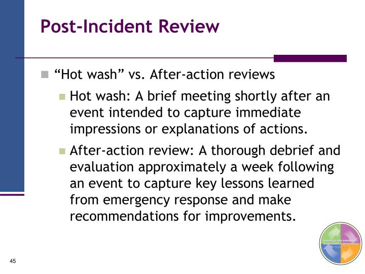 Post-Incident Review