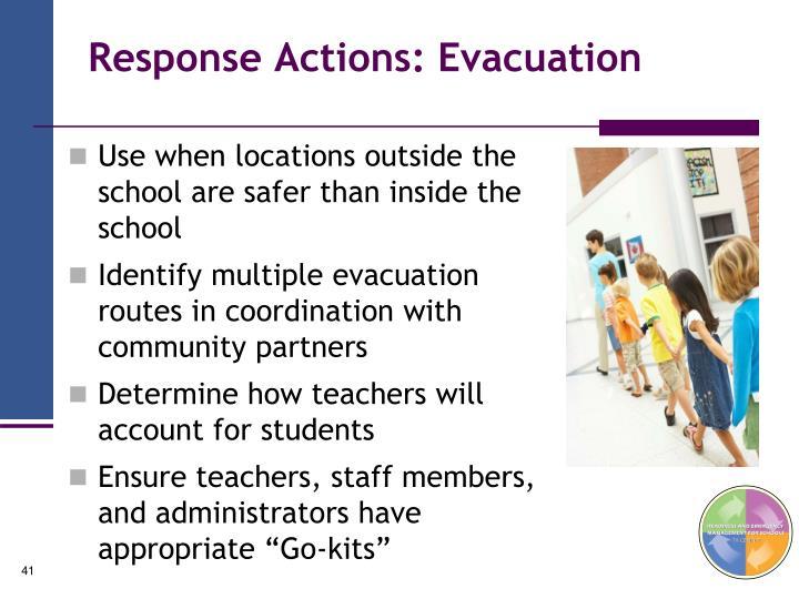 Response Actions: Evacuation