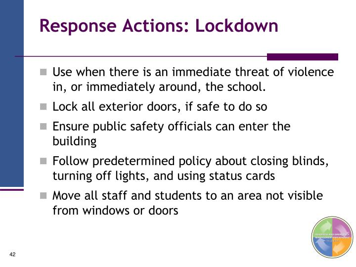 Response Actions: Lockdown