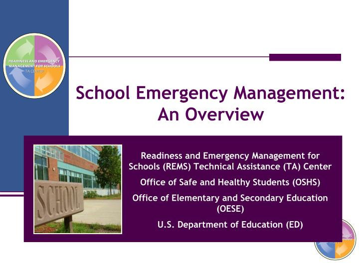 School Emergency Management: