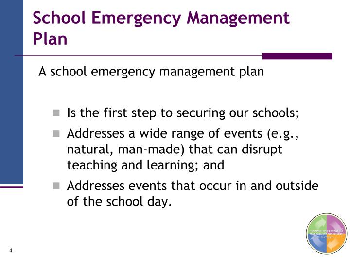 School Emergency Management Plan