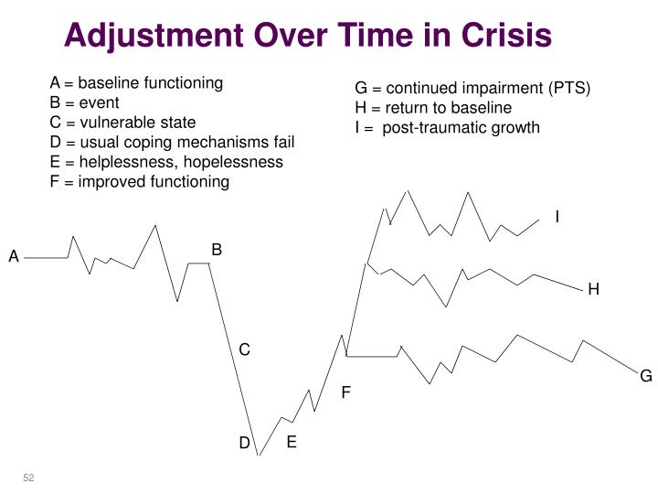 Adjustment Over Time in Crisis