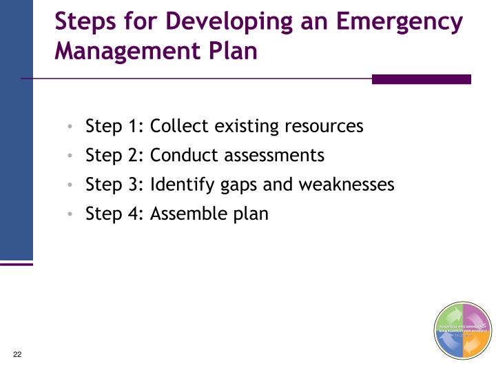 Steps for Developing an Emergency Management Plan