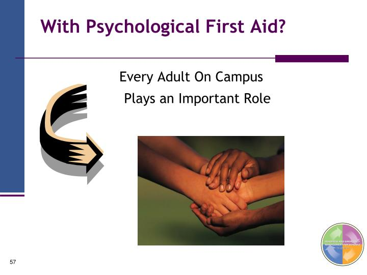 With Psychological First Aid?