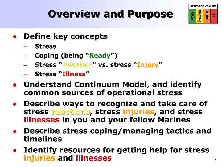 Overview and purpose