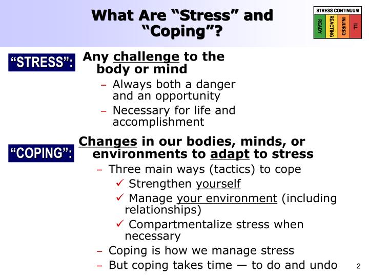 What are stress and coping