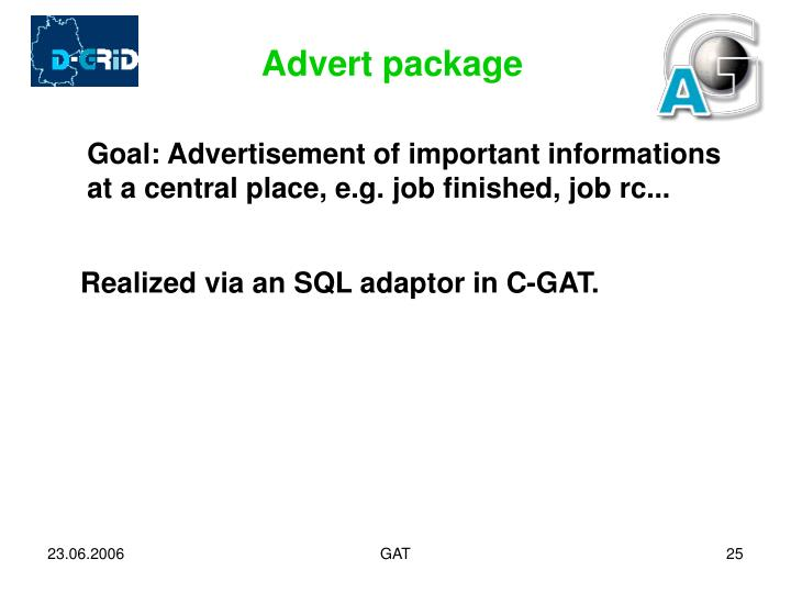 Advert package