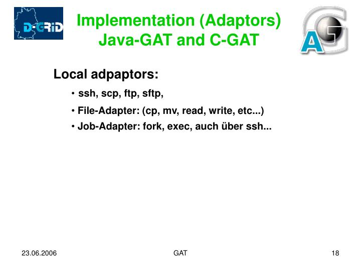 Implementation (Adaptors