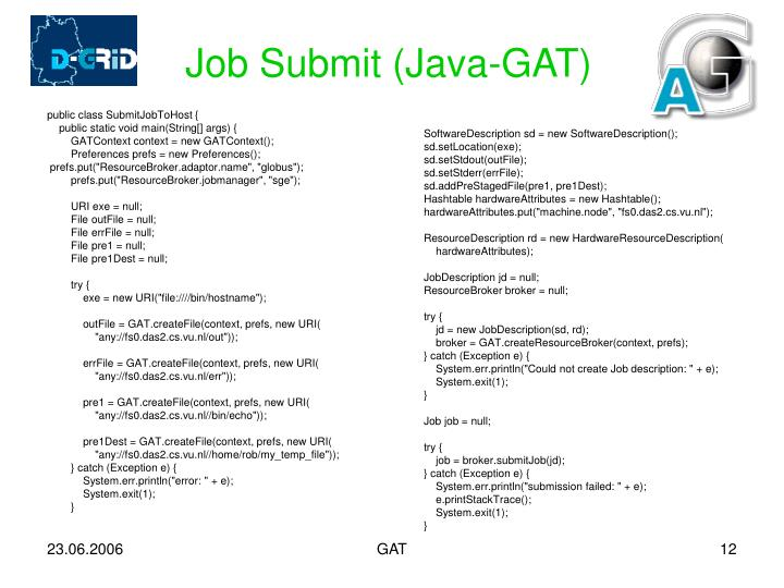 Job Submit (Java-GAT)