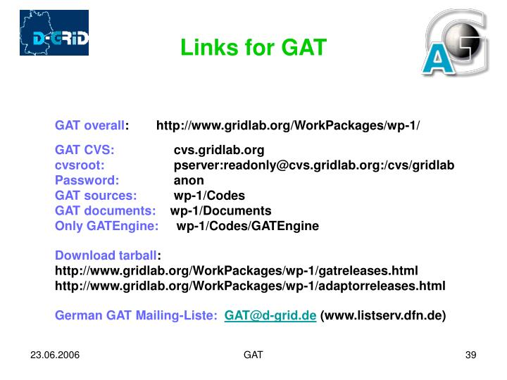 Links for GAT