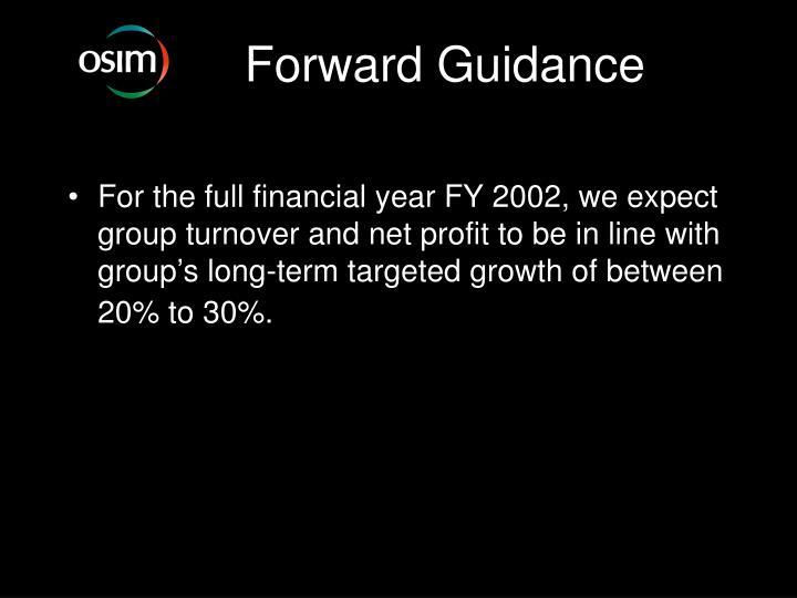Forward Guidance