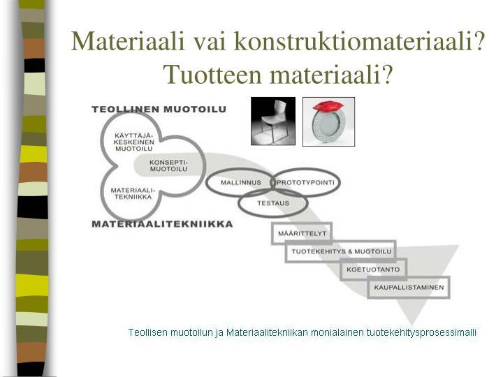 Materiaali vai konstruktiomateriaali?
