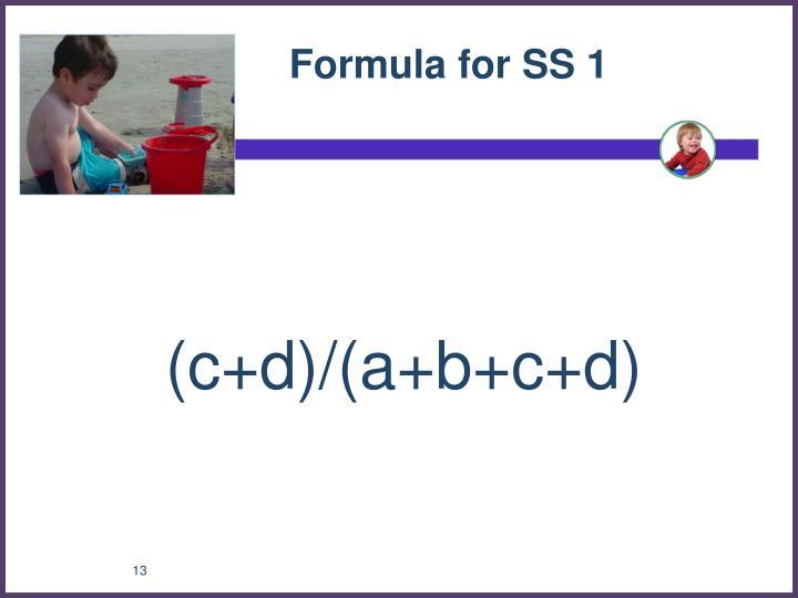 Formula for SS 1