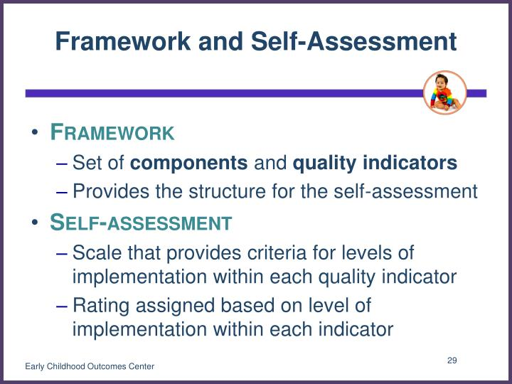Framework and Self-Assessment