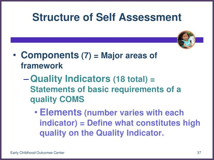 Structure of Self Assessment