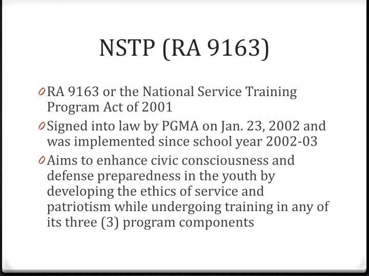 NSTP (RA 9163)