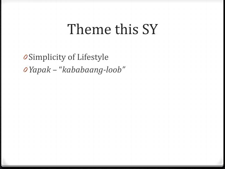 Theme this SY