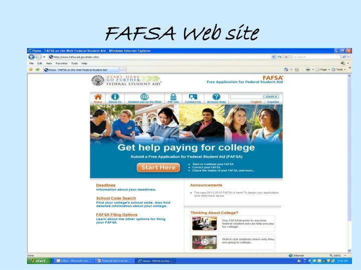 FAFSA Web site