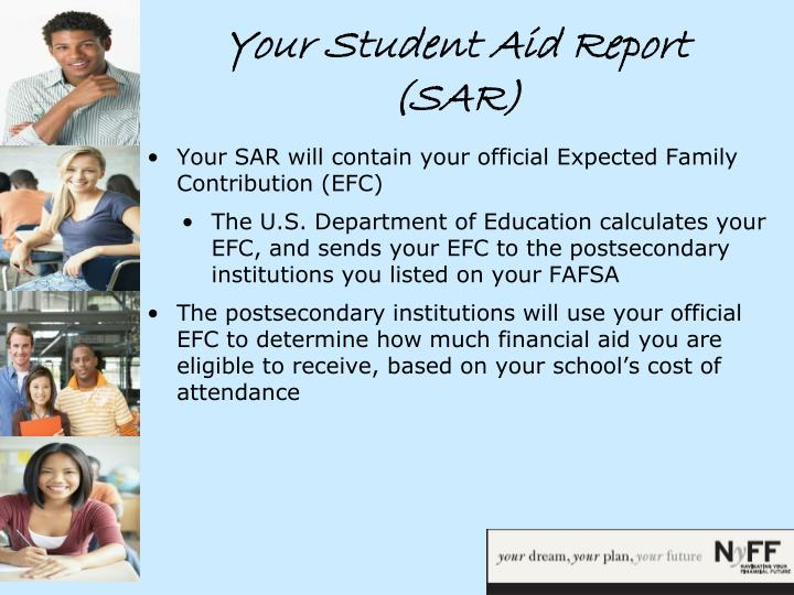 Your Student Aid Report (SAR)