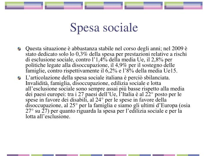 Spesa sociale