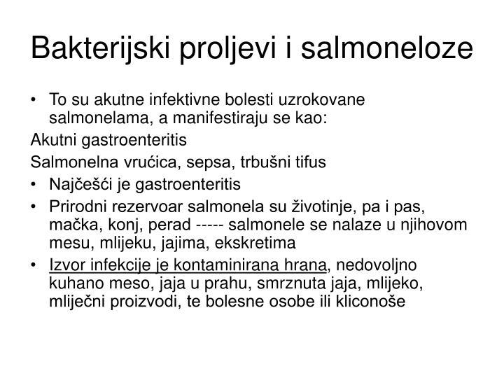 Bakterijski proljevi i salmoneloze