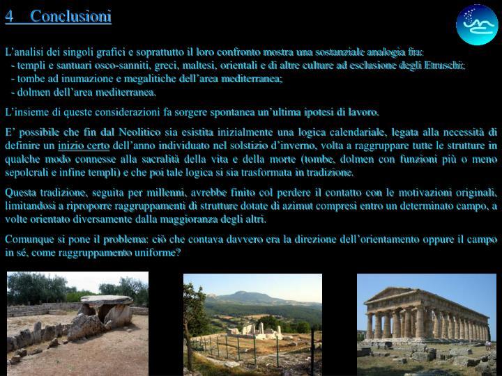 4    Conclusioni