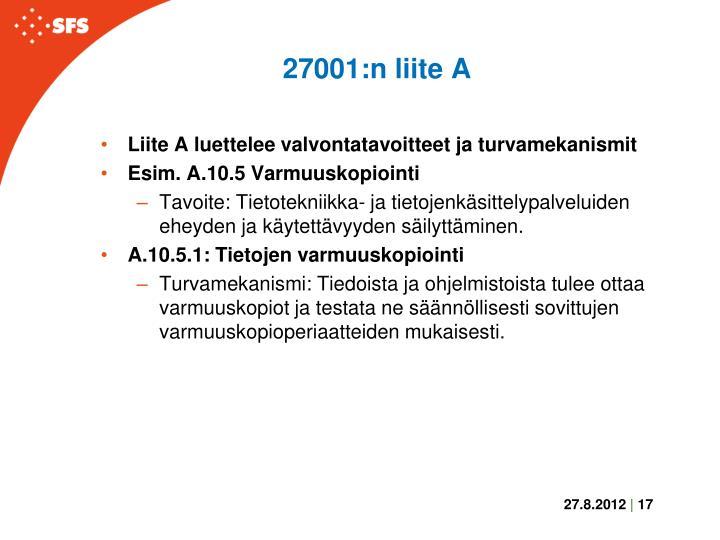 27001:n liite A