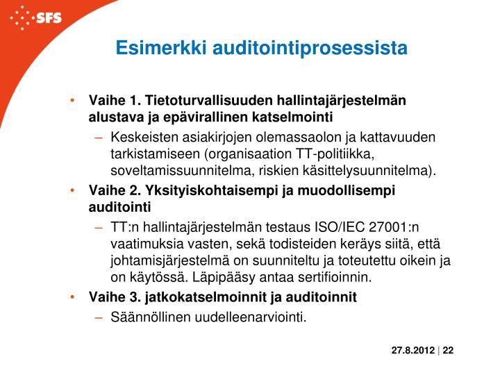 Esimerkki auditointiprosessista