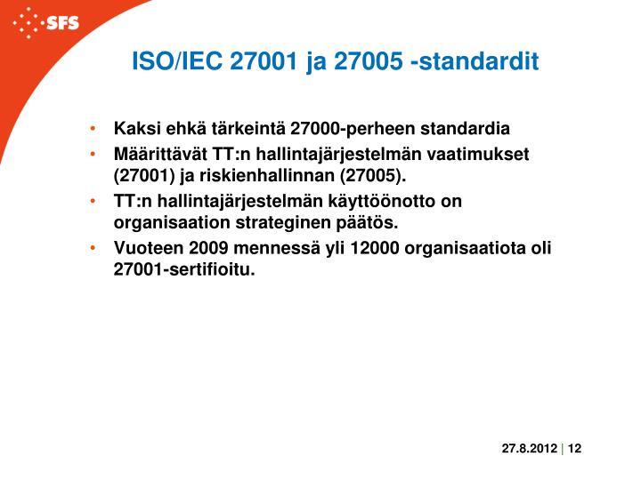 ISO/IEC 27001 ja 27005 -standardit